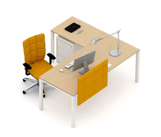 Asterisco IN | Single Desk di Estel Group | Scrivanie individuali