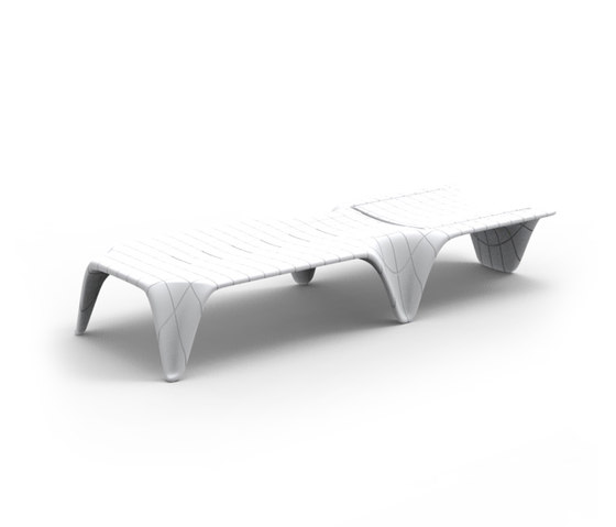 F3 sun chaise by Vondom | Sun loungers