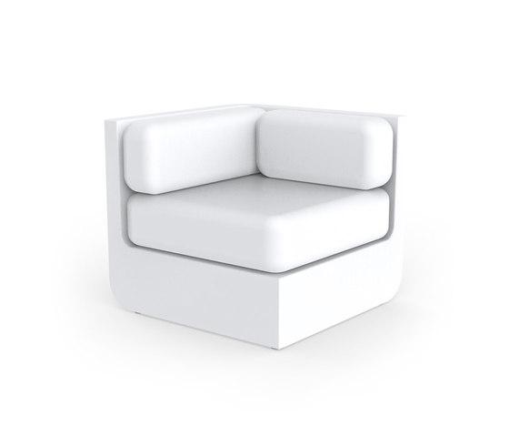 Ulm sectional sofa corner di Vondom | Elementi di sedute componibili
