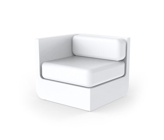 Ulm sectional sofa right by Vondom | Modular seating elements