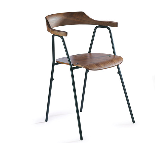 4455 Chair Walnut de Rex Kralj | Sillas de visita
