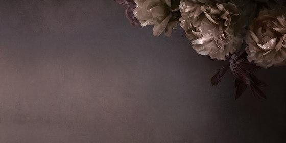 Peonia di Inkiostro Bianco   Tessuti decorative