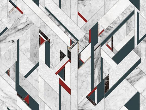 Fracture di Inkiostro Bianco | Tessuti decorative
