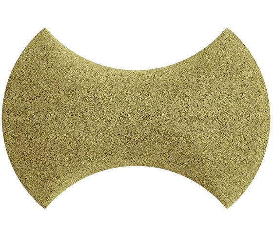 Shapes - Bow Tie (Olive) de Architectural Systems | Baldosas de corcho
