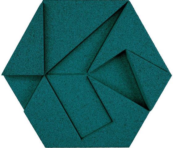 Shapes - Pinwheel (Emerald) de Architectural Systems | Baldosas de corcho