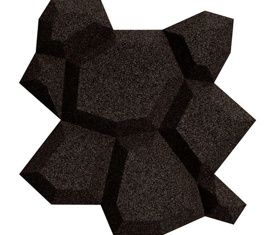Shapes - Pop (Black) by Architectural Systems | Cork tiles