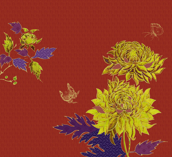 Flamboyant di Inkiostro Bianco | Tessuti decorative
