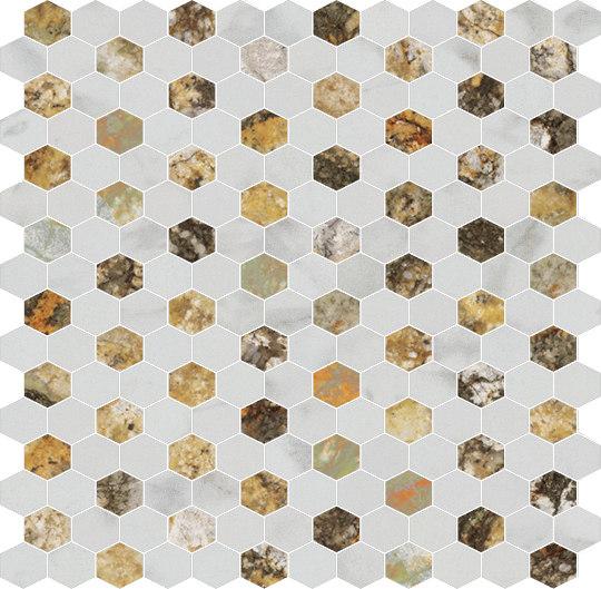 Hexagons | Type D de Gani Marble Tiles | Dalles en pierre naturelle