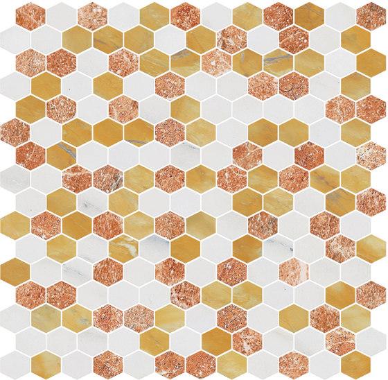 Hexagons | Type H de Gani Marble Tiles | Dalles en pierre naturelle