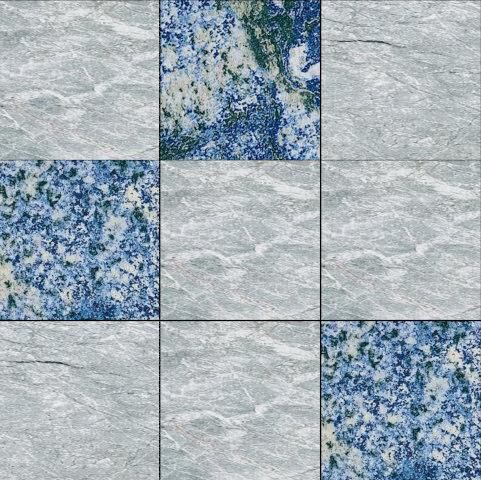 Mosaic Square 3x3   Type F de Gani Marble Tiles   Dalles en pierre naturelle