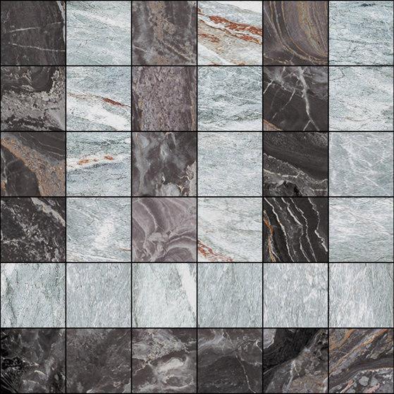 Mosaic Square 6x6 | Type D de Gani Marble Tiles | Dalles en pierre naturelle