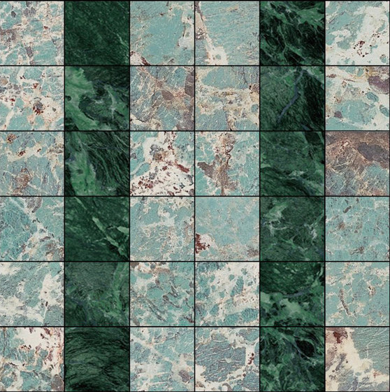 Mosaic Square 6x6 | Type G di Gani Marble Tiles | Piastrelle pietra naturale