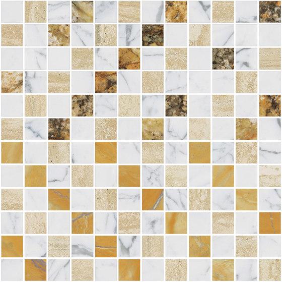 Mosaic Square CROSS 12X12 | Type A de Gani Marble Tiles | Dalles en pierre naturelle