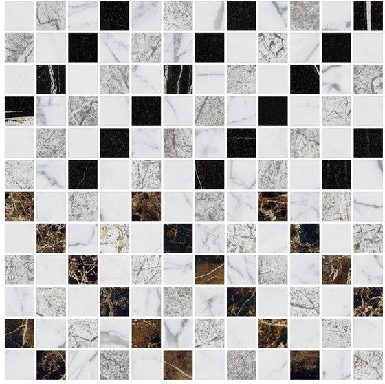 Mosaic Square CROSS 12X12 | Type B de Gani Marble Tiles | Dalles en pierre naturelle