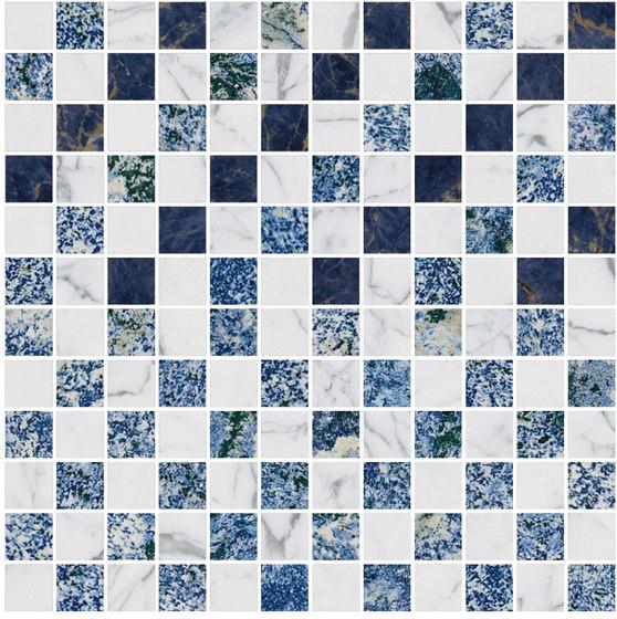 Mosaic Square CROSS 12X12 | Type C de Gani Marble Tiles | Dalles en pierre naturelle