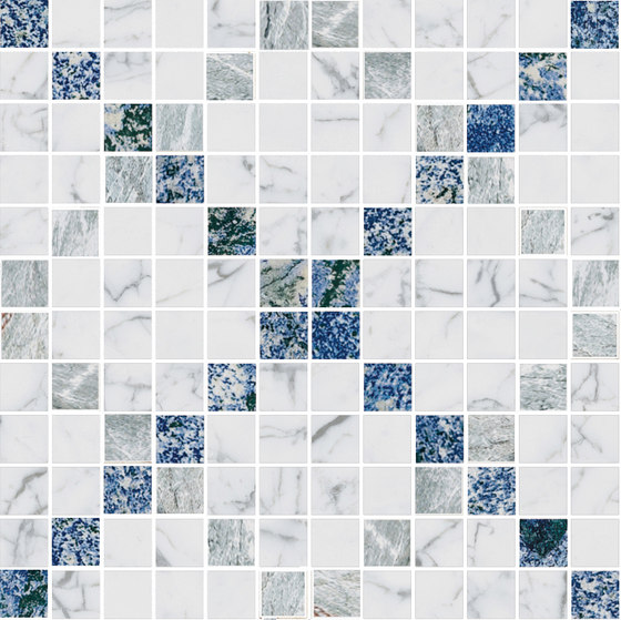 Mosaic Square CROSS 12X12 | Type E de Gani Marble Tiles | Dalles en pierre naturelle