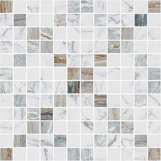 Mosaic Square CROSS 12X12 | Type H di Gani Marble Tiles | Piastrelle pietra naturale