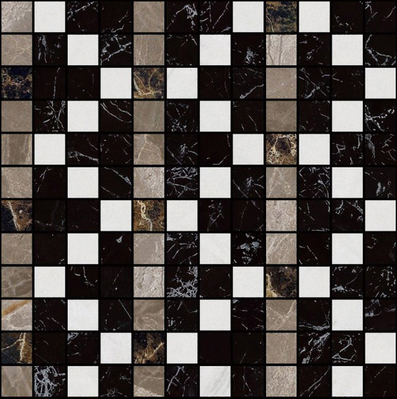 Mosaic Square FREEDRAWING 12X12 | Type A di Gani Marble Tiles | Piastrelle pietra naturale