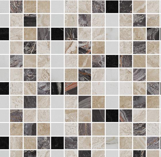 Mosaic Square FREEDRAWING 12X12 | Type C de Gani Marble Tiles | Dalles en pierre naturelle