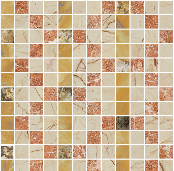 Mosaic Square FREEDRAWING 12X12 | Type D de Gani Marble Tiles | Dalles en pierre naturelle