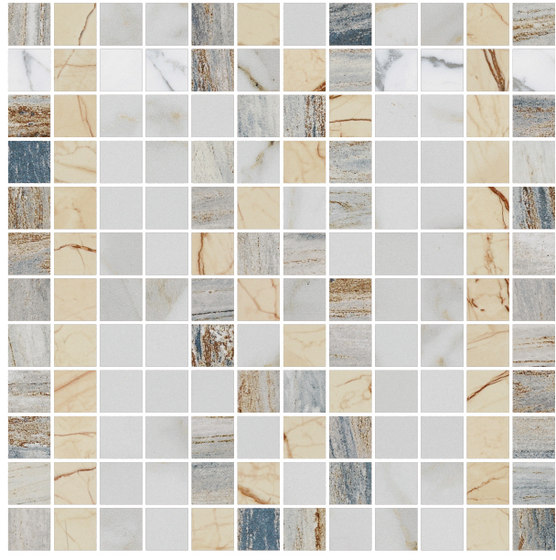 Mosaic Square FREEDRAWING 12X12 | Type G di Gani Marble Tiles | Piastrelle pietra naturale