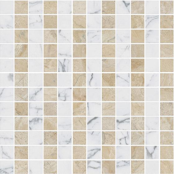 Mosaic Square LINE 12X12   Type A di Gani Marble Tiles   Piastrelle pietra naturale