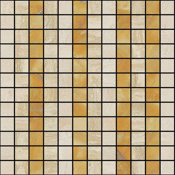 Mosaic Square LINE 12X12 | Type G de Gani Marble Tiles | Dalles en pierre naturelle