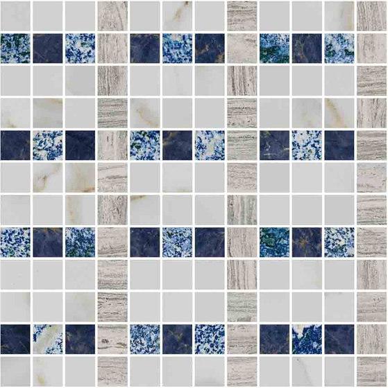 Mosaic Square LINE 12X12   Type J de Gani Marble Tiles   Dalles en pierre naturelle