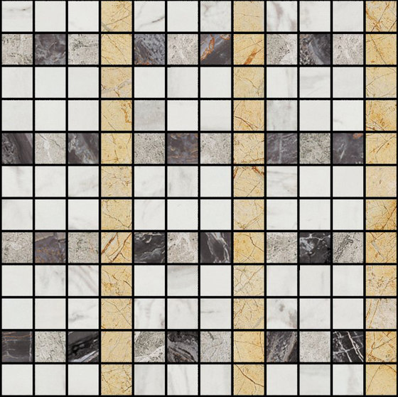 Mosaic Square LINE 12X12 | Type K by Gani Marble Tiles | Natural stone tiles
