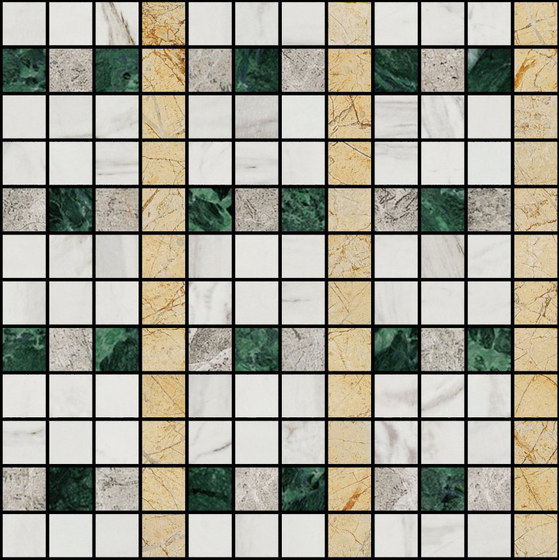 Mosaic Square LINE 12X12 | Type L by Gani Marble Tiles | Natural stone tiles