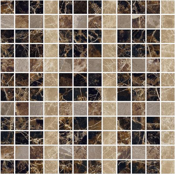 Mosaic Square LINE 12X12 | Type M de Gani Marble Tiles | Dalles en pierre naturelle