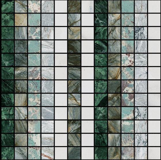 Mosaic Square LINE 12X12 | Type N de Gani Marble Tiles | Dalles en pierre naturelle