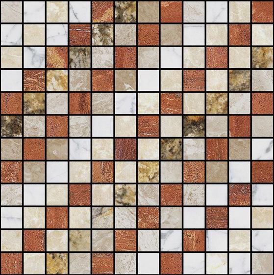 Mosaic Square SHADE 12X12 | Type F de Gani Marble Tiles | Dalles en pierre naturelle
