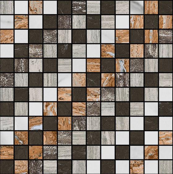 Mosaic Square SHADE 12X12 | Type G di Gani Marble Tiles | Piastrelle pietra naturale