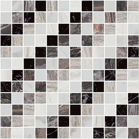 Mosaic Square SHADE 12X12 | Type I de Gani Marble Tiles | Dalles en pierre naturelle