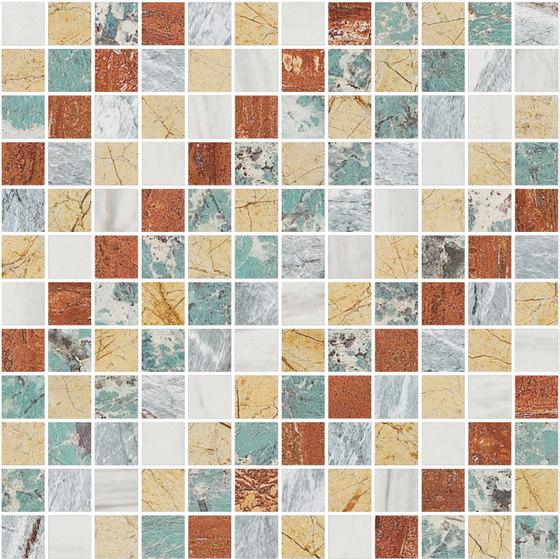 Mosaic Square SHADE 12X12 | Type J de Gani Marble Tiles | Dalles en pierre naturelle