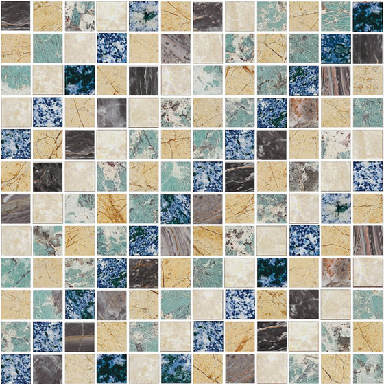 Mosaic Square SHADE 12X12 | Type L de Gani Marble Tiles | Dalles en pierre naturelle
