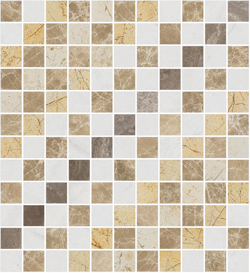 Mosaic Square SHADE 12X12 | Type O de Gani Marble Tiles | Dalles en pierre naturelle
