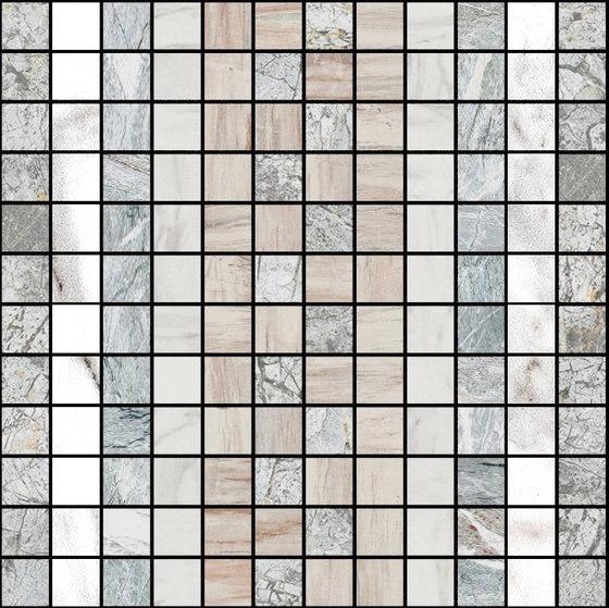 Mosaic Square SHADE 12X12 | Type C de Gani Marble Tiles | Dalles en pierre naturelle