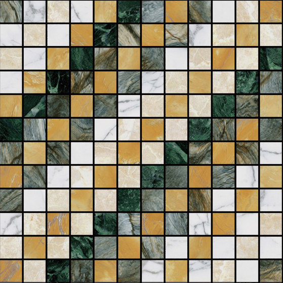 Mosaic Square SHADE 12X12 | Type E de Gani Marble Tiles | Dalles en pierre naturelle