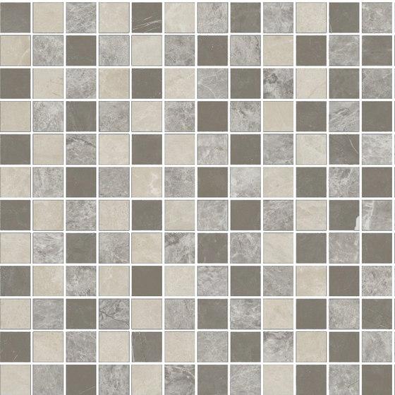 Mosaic Square STRUCTURE 12X12 | Type A de Gani Marble Tiles | Dalles en pierre naturelle
