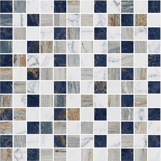 Mosaic Square STRUCTURE 12X12 | Type D de Gani Marble Tiles | Dalles en pierre naturelle