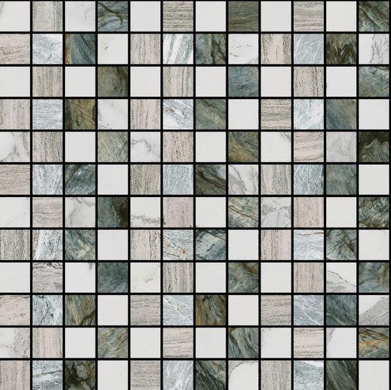 Mosaic Square STRUCTURE 12X12 | Type E di Gani Marble Tiles | Piastrelle pietra naturale