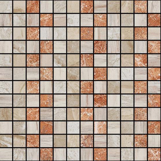 Mosaic Square STRUCTURE 12X12 | Type F de Gani Marble Tiles | Dalles en pierre naturelle