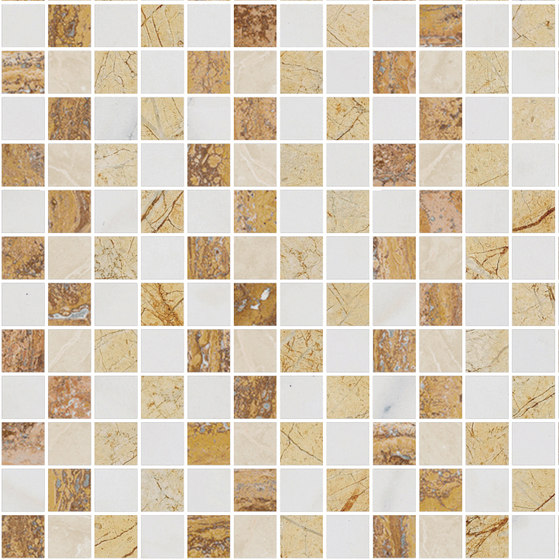 Mosaic Square STRUCTURE 12X12 | Type G de Gani Marble Tiles | Dalles en pierre naturelle