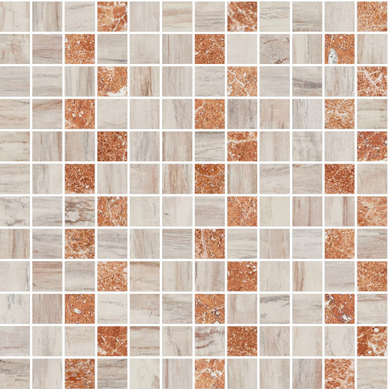 Mosaic Square STRUCTURE 12X12 | Type H di Gani Marble Tiles | Piastrelle pietra naturale