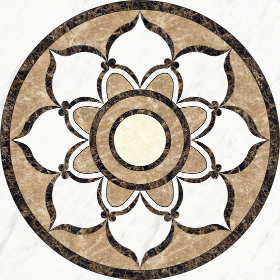 Medallion Round | PH028 by Gani Marble Tiles | Natural stone panels