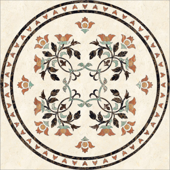 Medallion Round | PH068 by Gani Marble Tiles | Natural stone panels
