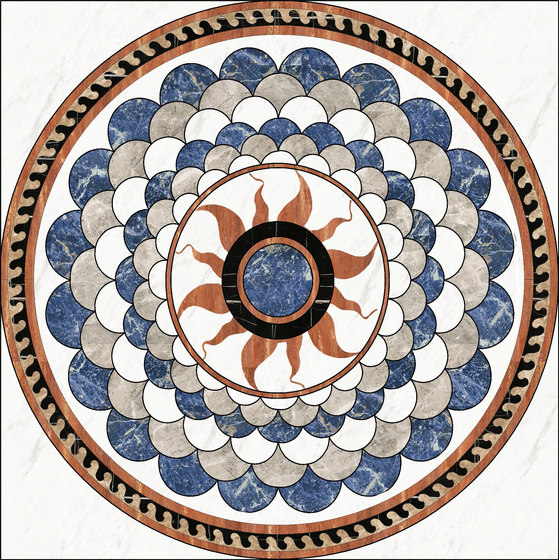 Medallion Round | PH058 by Gani Marble Tiles | Natural stone panels