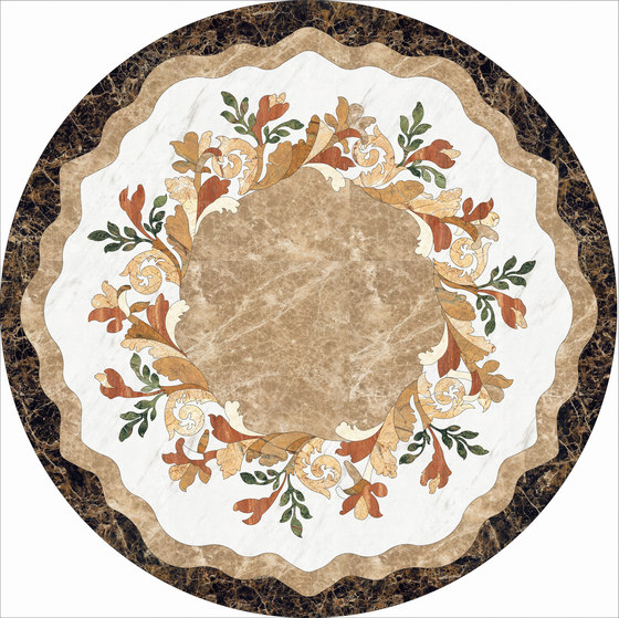 Medallion Round | PH039 by Gani Marble Tiles | Natural stone panels